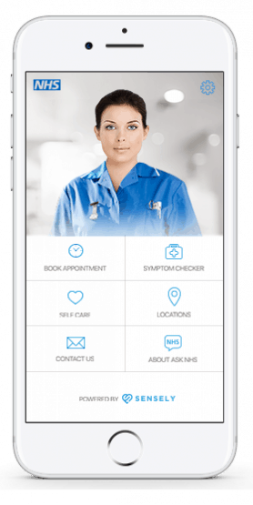 Ask NHS App on mobile phone